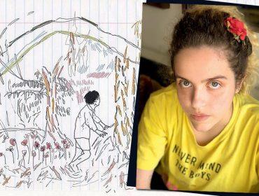 Estela May, filha de Fernanda Young e Alexandre Machado, brilha com sua arte cheia de sensibilidade