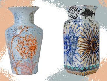 Lá em Casa: Os charmosos vasos de Calu Fontes com exclusividade para o Berinjela.com