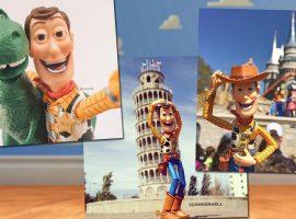 """Artista brasileiro mostra lado B da rotina do brinquedo mais famoso de """"Toy Story"""". Vem ver!"""