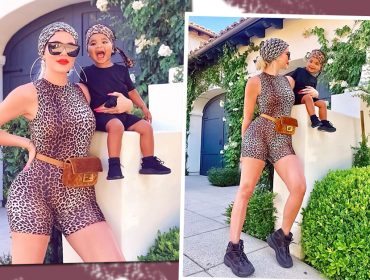 Khloe e True Kardashian combinam look animal print com direito a indireta para o ex…