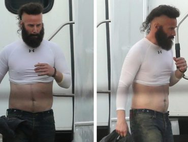 "Keanu Reeves aparece barbudo e com a barriga de fora nos sets do novo ""Bill & Ted"""