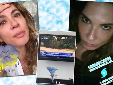 """Luciana Gimenez está em Miami e desabafa sobre a chegada do furacão Dorian: """"Acho que teremos que sair de emergência"""""""
