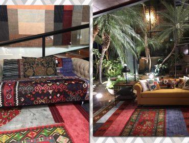 Lá em Casa: Os tapetes sustentáveis e coloridos de Neza Cesar em parceria com a By Kamy