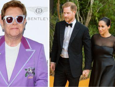 Elton John sai em defesa de Meghan Markle e Harry, que estão sendo criticados por viajarem demais em jatinhos