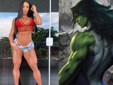 Internet pede Gracyanne Barbosa como Mulher-Hulk. A resposta dela?