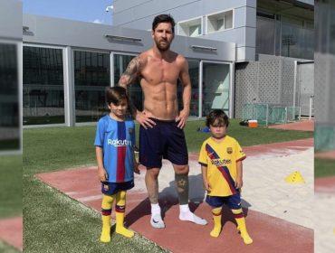 Mateo, filho de Lionel Messi, rouba a cena em jogo do Barcelona ao pentelhar o pai…