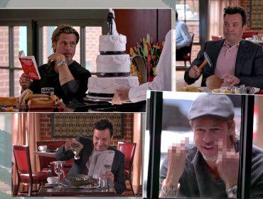 Jimmy Fallon e Brad Pitt fazem batalha de cortesia no The Tonight Show e resultado é hilário. Espia só!