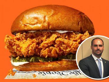 """Rede de fast food em que Eduardo Bolsonaro afirmou ter """"fritado hambúrguer"""" lança seu primeiro sanduíche. Vem saber!"""