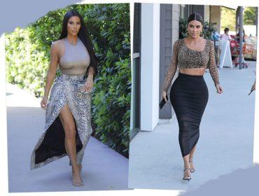 Animal print minimalista? Aprenda a usar a tendência com Kim Kardashian