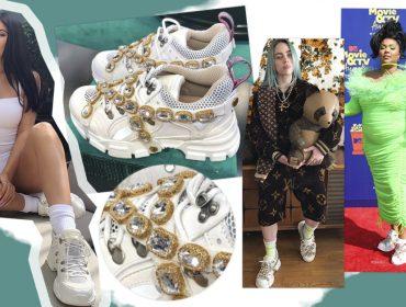 Tênis queridinho das celebridades é luxuoso, cheio de cristais e custa R$ 7.260. Aos detalhes!