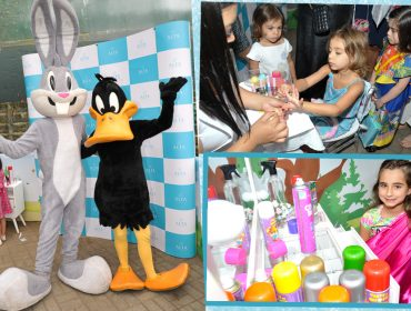 Patolino e Pernalongas fazem a festa com os baixinhos no Piquenique de Dia das Crianças