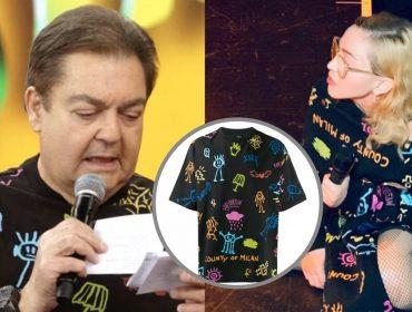 #Faustonna: Web pira com coincidência fashion entre Faustão e Madonna