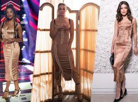 Iza, Vivi Guedes e Vitória Strada usam o mesmo vestido luxuoso de 17 mil reais. Quem ficou melhor?