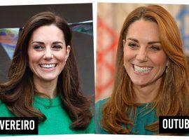 Kate Middleton aparece loira e Glamurama mostra a mudança gradual no look da duquesa