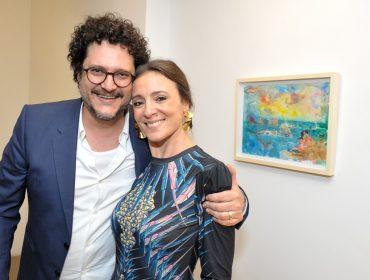 Abertura da mostra de Rafael Vogt Maia Rosa agita a  Galeria São Paulo Flutuante
