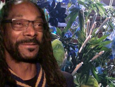 Snoop Dogg é surpreendido com arranjo de flores lotado de cannabis… Vem conferir essa história!