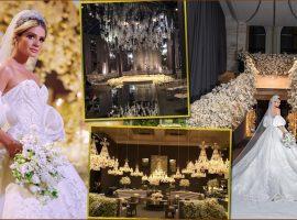 O casamento de Thássia Naves e Artur Attie em números: 100 mil orquídeas, vestido estimado em R$1,5 mi feito por mais de 24 costureiras e mais…
