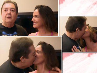 Beijão de Fausto Silva e Luciana Cardoso em pleno domingão pegou todo mundo de surpresa e agitou as redes sociais