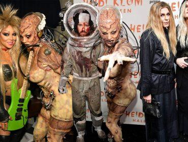 Heidi Klum arrasa com fantasia de alienígena que levou 10 horas para ficar pronta para sua tradicional festa de Halloween