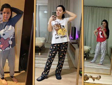 Maraísa revela seu lado desencanada mostrando coleção de pijamas de bichinhos… nada atraentes…