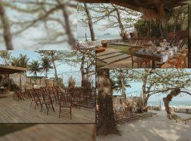 Praia de Cambury ganha espaço chiqueria para celebrações no estilo pé na areia