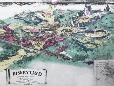 Leilão de objetos raros da Disney tem até esboço da Disneyland pelas mãos de seu criador