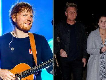 """Ed Sheeran faz """"aparição surpresa"""" na festa de aniversário da filha do chef inglês Gordon Ramsay"""