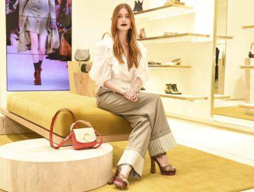 Marina Ruy Barbosa roubou a cena na abertura da loja da Chloé em São Paulo