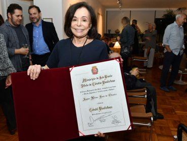 Regina Boni comemorou o recebimento do Título de Cidadã Paulistana com cocktail em Higienópolis