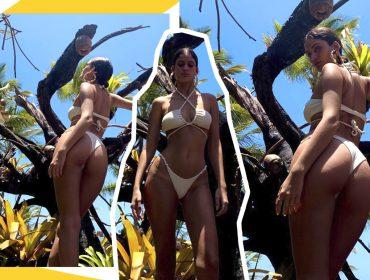 Laura Fernandes, nora de Preta Gil, posta fotos de biquíni e agita as redes sociais. Vem ver!