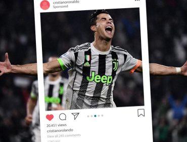 Cristiano Ronaldo ganhou US$ 14 milhões a mais como digital influencer do que jogador em 2018