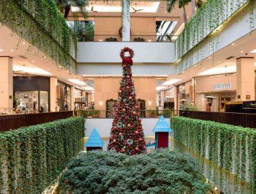 Decoração de Natal do Shopping Cidade Jardim tem desde a casa do Papai Noel até trenzinho a céu aberto