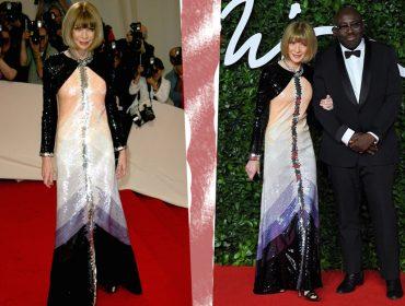 É chique repetir roupa nos red carpets, tá? Anna Wintour surge em premiação com look usado há oito anos!