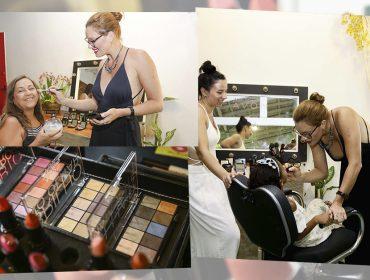 Glamurettes armam fila no camarim da Avon na Casa Glamurama para arrasar no make de verão