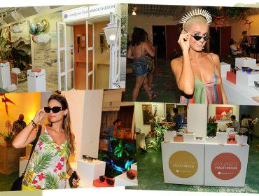 Interação, flashes e muito mais no espaço da Sunglass Hut na Casa Glamurama Trancoso