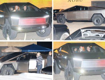 Elon Musk causa frisson ao baixar em restô a bordo de um Cybertruck acompanhado da cantora Grimes