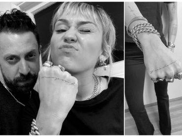 """Miley Cyrus tatua a palavra """"liberdade"""" na mão em direta para o ex Liam Hemsworth"""