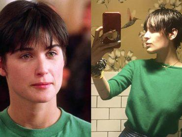 """Filha de Demi Moore copia o corte de cabelo da mãe no filme """"Ghost"""" e resultado é incrível"""