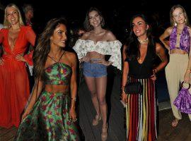 Vestidos e saias longas dominaram os looks das glamurettes na Welcome Trancoso