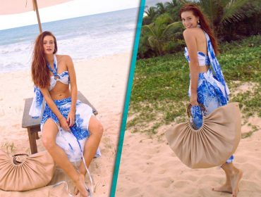 Marina Ruy Barbosa elege maxi bolsa de 2 mil reais para curtir a praia nesse verão. Saiba mais!