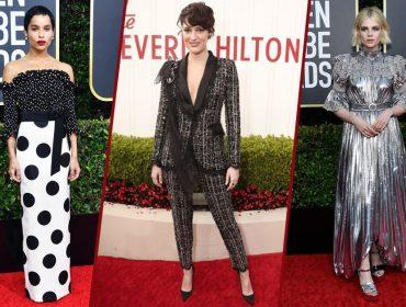 Poucos ousaram – e arrasaram – no tapete vermelho do Globo de Ouro. Confira as celebs mais fashionistas da noite