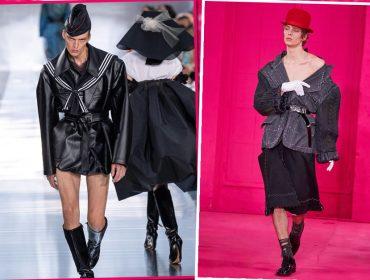 Modelo alemão queridinho de John Galliano rouba a cena mais uma vez nas passarelas de Paris