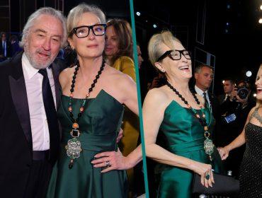 Meryl Streep rouba a cena ao surgir rejuvenescida e com look fashionista no SAG Awards