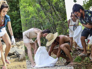 Artistas se unem para limpar o lixo das praias de Noronha após o Réveillon. Saiba mais!