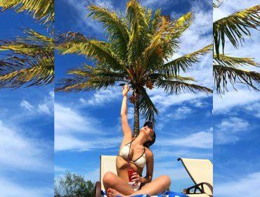 Aos 39 anos, Claudia Leitte exibe boa forma de biquíni quatro meses após dar à luz