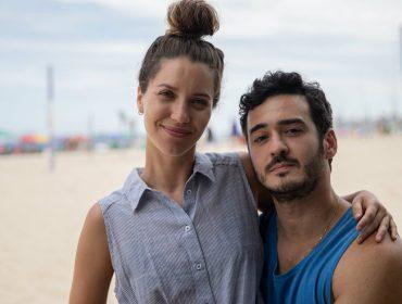 Um casal inseparável? Nathalia Dill e Marcos Veras têm circulado juntos pela praia do Leme, no Rio. Entenda!