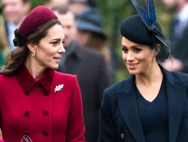 Meghan Markle e Kate Middleton mostram sintonia ao usar casaco de fast fashion espanhola