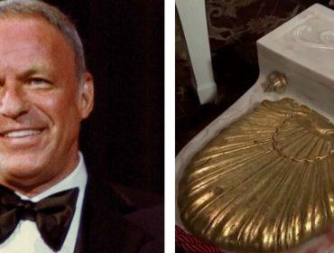 Privada de mármore italiano e ouro usada por Frank Sinatra é leiloada por quase R$ 20 mil