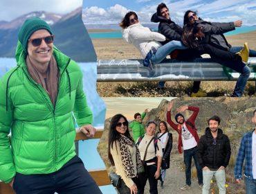 As férias geladas e divertidas de Reynaldo Gianecchini com os #bffs pela Patagônia