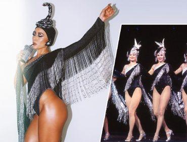 """Sabrina Sato se inspira na clássica fantasia """"Dancing with Diamonds"""" de Bob Mackie para ensaio da Gaviões"""